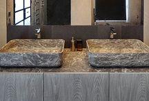 B A T H / P O W D E R / stone, marble, ceramics, stone, marble, ceramics.