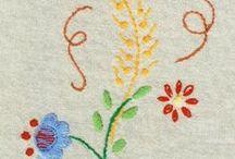 haft płaski / drobne wzory