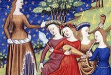 Inspirations - Late Medieval (1330-1450) / Inspirations for Lee & Pearl Pattern 3001: A Late Medieval Lady's Wardrobe — and all your middle ages doll costuming and play!