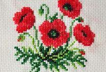 haft krzyżykowy - maki i inne polne kwiatki / cross-stitch poppies and other wild flowers