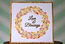 CASFridays: Wheat Wreath / This gorgeous autumn wreath of wheat comes with 7 lovely sentiments that can be mixed and matched. 4 x 6 clear photopolymer stamp set, made in the USA. www.cas-ualfridaysstamps.com #wheat #wreath# thanksgiving #autumn #stamps