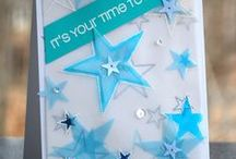 CASFridays: Twinkle / Darling stars and sentiments make up this 4 x 6 clear photopolymer stamp set from www.cas-ualfridaysstamps.com