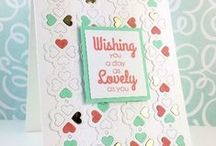 CASFridays: Lovely Greetings / Lovely Greetings 4 x 6 set of 8 clear photopolymer stamps $15.00  www.cas-ualfridaysstamps.com   Wonderful sentiments in stylish fonts that will make cardmaking a snap. Perfect for any occasion.  Made in the USA