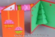 Felicitari Handmade pentru Craciun / Idei pentru confectionat felicitari pentru Craciun, cu ajutorul copiilor