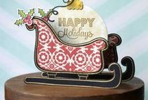 Sleighride & Sleigh Fri-Dies / CAS-ual Fridays Stamps presents Sleighride, a 4 x 6 clear photopolymer stamp set $15.00 and Sleigh Fri-Dies, wafer thin steel dies, $22.99. Made in the USA. Available at www.cas-ualfridaysstamps.com