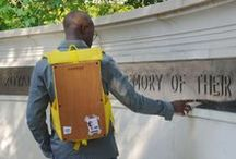 Woodsack Backpack XL Yellow Travel Adventures / Times with the woodsack Backpack XL In Yellow