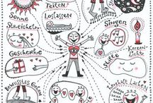 Sketchnotes | Tips | Inspiration / Anleitung, Ideen, Vorlägen,