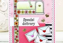 Special Delivery & Mailbox Fri-Dies / Sweet sentiments in a delicious font, and a super cute mailbox that will coordinate with our Mailbox Fri-Die for even more fun! 4 x 6 clear stamps, $15.00  www.cas-ualfridaysstamps.com