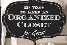 Declutter and Organize / DIY solutions and ideas to keep your home clean, organized, and decluttered!