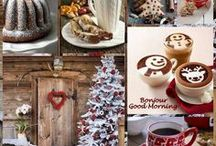 Christmas food, sweets and decoration