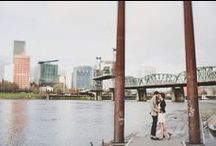 engagement session ideas / beautiful Seattle and Portland inspired engagement portraits to inspire the images for your exciting announcements