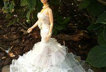 Barbiekleider nähen Kleider für Barbie Puppenkleidung / Barbiekleidung selbstgemacht Barbiekleidung  Puppenkleidung mit viel Liebe erstellt
