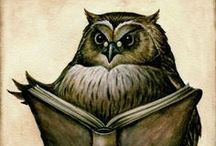 Brown Owl / Owls hoot, and owls read books too by the look of the number of illustrations of owls reading.