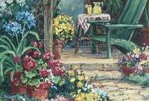 Garden paths to wander / Gardens, plants, paths, quiet corners, garden furniture and pots