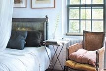 Bedrooms / Beautiful bedrooms using European antiques.