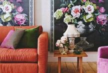 How to use color, layers, and textures / How to perfectly style gallery walls, use bold colors, and mix elements.