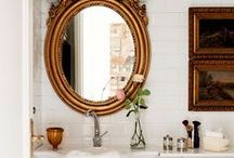 Bathrooms / Bathrooms we love using European antiques, marble, and amazing showers.