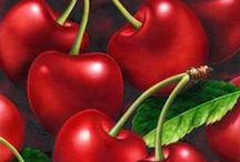 Cherry red / Fruit, lusciously sweet, round and red, a colour that flames the eye with vibrancy.