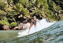 Surfing   Swimwear / surfing, surf board, surf clothes, swimsuits, surfing babes, sport, fitness, surfer style, women style