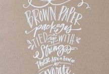 hand lettering / modern calligraphy / typography, hand lettered, calligraphy