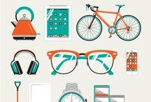 Graphic Design / Excellent #graphic #design ideas that inspire me... And of course my #vector #illustrations :)