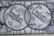 Zentangle Banner's / Hand drawn Pen & Ink Zentangle Web Site Banner.