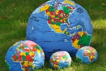 Our World in your hands / These are Hugg-a-planets, Soft globes that you can hug, squeeze, throw, and even learn from. A geographically accurate globe of our earth with over 600 places labeled its fun for all ages.