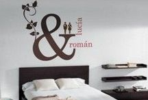 Bedroom wall decor / A board for people with original ideas.