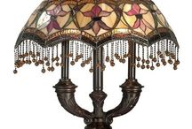 Tiffany And Stained Glass Lamps / Glass