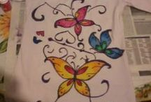 Fabric colors / Various fabric colors on T-shirt and other clothing