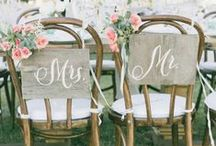 Great wedding chair decor