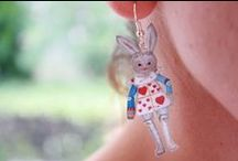 """Paper Earrings and Necklace / Paper earring made of paper """"or partially made"""""""