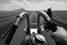 motorcycles and cars / I love bikes, especially Triumphs. My own ride, a Triumph America. / by Kim Anderson