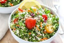Beautiful Healthy Salad Recipes / bright + colourful salads || meal-sized salads || vegan salads || high-protein salads || easy salads || make-ahead salads || big batch salads