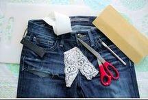 Denim y jeans refaccionados / by Ruth Flores