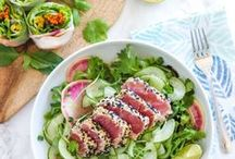 Healthy Asian-Inspired Recipes / healthy Asian recipes || healthy easy stir fried meals || clean eating-approved Asian meals || better-than-takeout Asian food || easy Asian recipes || paleo Asian recipes || vegan Asian recipes || summer roll recipes || gluten-free Asian recipes