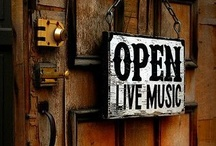 Music Cafe / Someday I'll have an intimate little bistro where musicians will come and play and people will relax. . . . drink coffee. . . . and have dessert. . . .  / by Debra Lynn