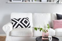 Lounging around / The best Scandinavian inspired living room.  Simple, functional and easy to live in.