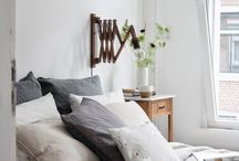 Sleepyhead / Beautiful spaces to sleep.  Scandinavian style with beautiful linens and even some vintage elements