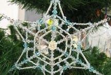 Christmas! / Here are some of my beaded Christmas decoration designs, available from my website www.sallyboehme.co.uk.