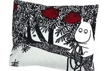 Bedroom Moomin / Make Moomin a part of your decorations in the bedroom, lovely sheets and other products made for the bedroom.