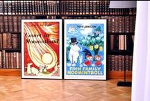 Moomin posters exclusively from Moomin.com / These unique one-of-a-kind fine art prints by Tove Jansson are only available in the Official Moomin Shop and they come in two sizes: 70 x 50 cm and 100 x 70 cm.