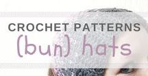 Crochet hat patterns / Here you can find the prettiest crochet hats, including bun hats. Most are free crochet patterns! Free crochet patterns on wilmade.com