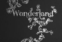 "{ wonderland } / "" Curiouser and curiouser "" Lewis Carroll . Alice in Wonderland ."