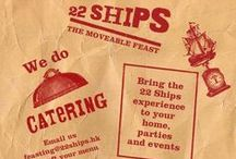 Catering / By popular demand from our diners! Whether it's small tapas for a cocktail party, lunch on a boat or a feasting menu including whole roasted suckling pig in the privacy of your home, the Chef and Crew at 22 Ships will bring the 'Ships' experience to you.