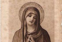 vintage Catholic holy cards / vintage Catholic holy cards and images of Catholic saints, Jesus, the Good Shepherd and Sacred Heart, and the Blessed Mother.