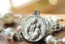 catholic jewelry and religious gifts / vintage Catholic elements and design