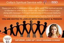 Saturday Spiritual Service / Saturday spiritual service is held monthly in Los Angeles, CA to connect our community with self, soul & Spirit. Each month there are professional speakers & mediums delivering messages from loved ones in spirit! If you don't live in the LA area you can catch it on Youtube! Come and join us!