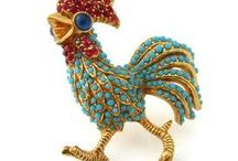 Jeweled Menagerie | Vintage Jewelry / Animal, Insect, & Critter Brooches, Pins, Clips | Vintage Fine & Costume Jewelry