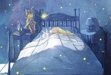 dormire, riposare, esser contenti. / del sonno e dei sogni